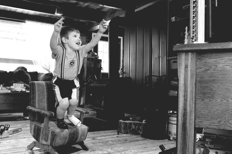 jumping child suspenders quirky kid