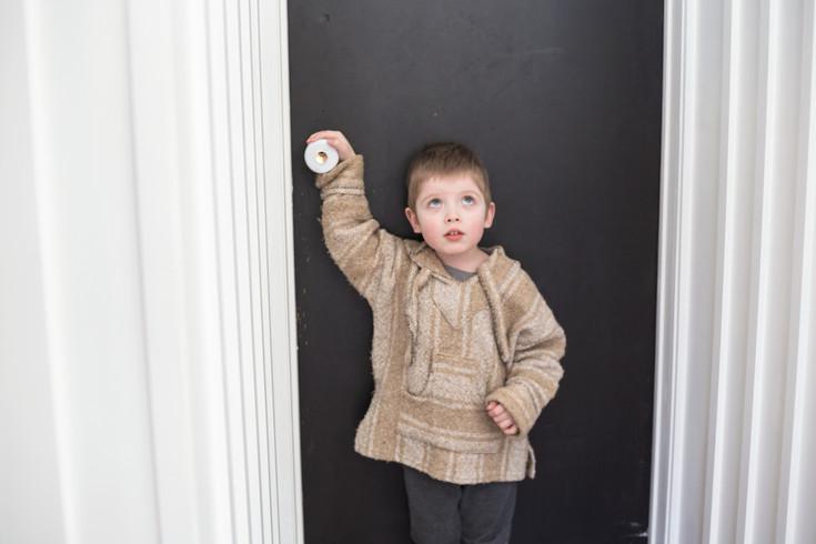 boy photo door farmhouse
