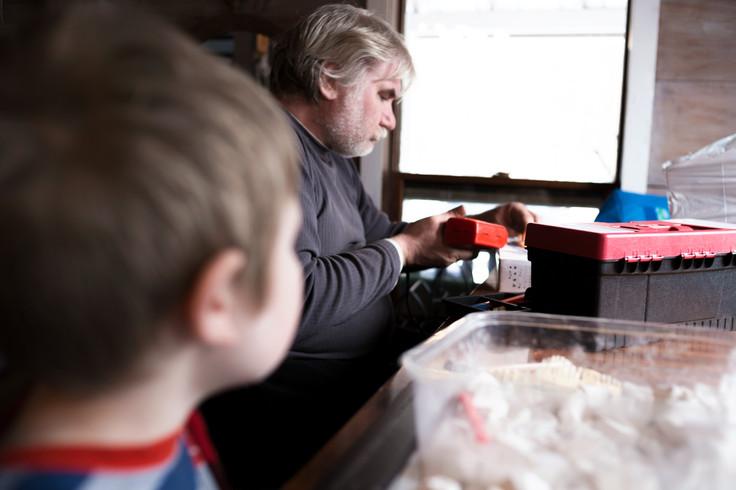 watching grandpa work photo memories