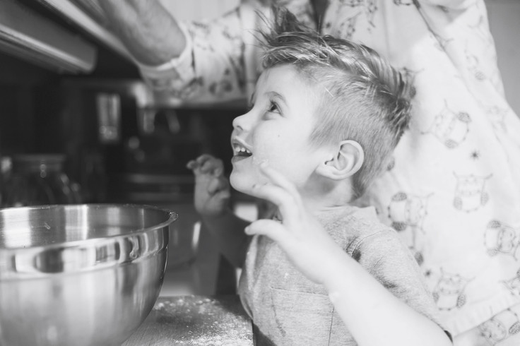 baking with grandma boy