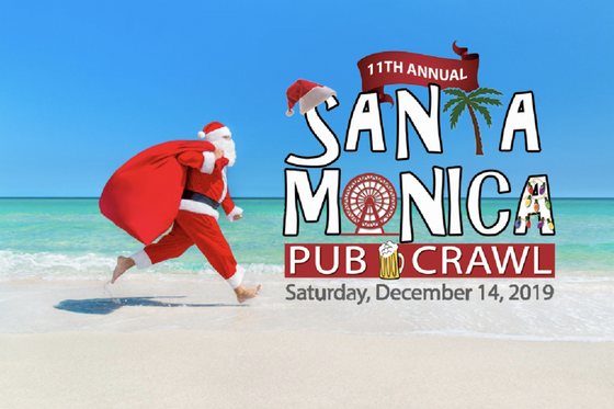 The SANTA Monica Pub Crawl is Coming to Town!