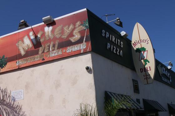 Taking Pizza Personally at Mickey's Deli - Hermosa Beach