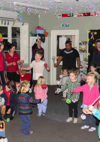 Families and teachers celebrated Matariki with songs, crafts, and food.