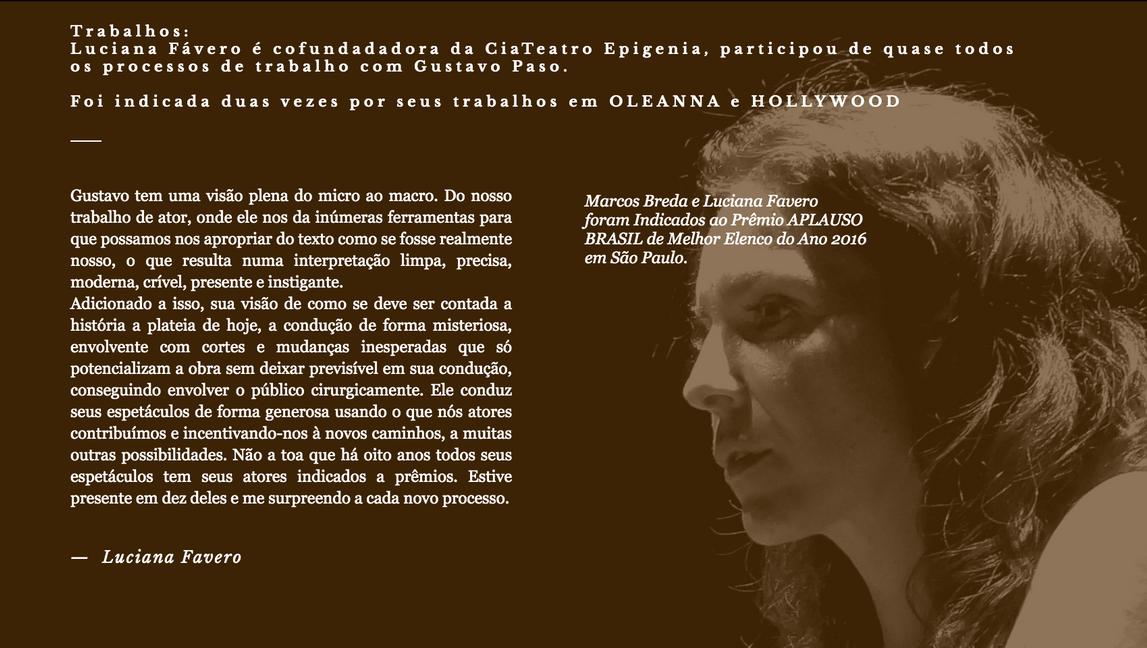 Luciana Fávero - Atriz