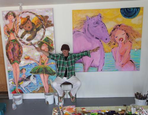 Artist creating Circo d'Alessio