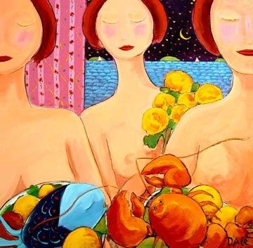 Three Naked Ladies, Blue Fish & Lobster