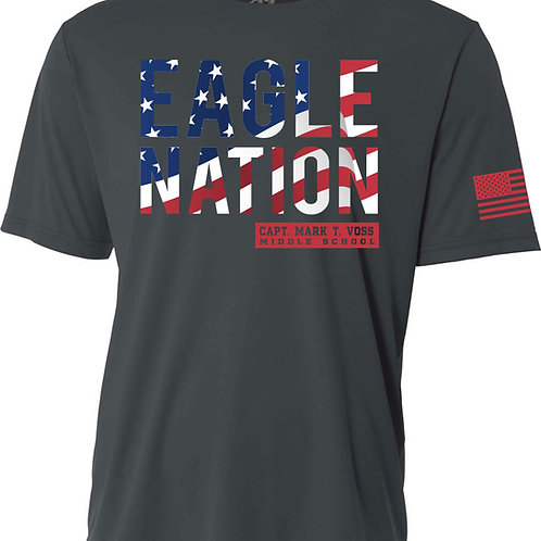 Short Sleeve Dark Grey Dri-Fit VMS T-shirt (Eagle Nation)