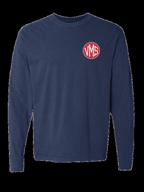 Long Sleeve Navy VMS T-shirt (Comfort)