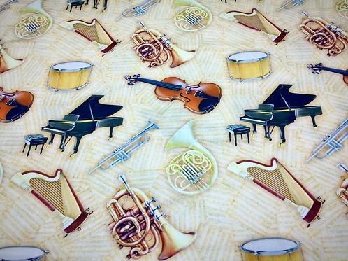 Tecido Digitalizado Instrumentos Musicais