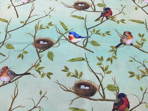 Estampa Digitalizada de Pássaros