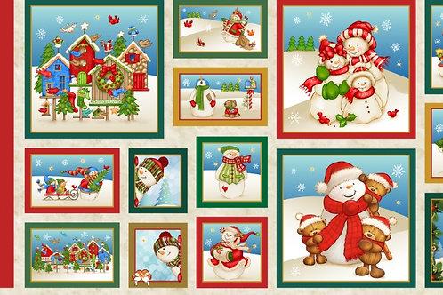 Conjunto de Painéis de Boneco de Neve