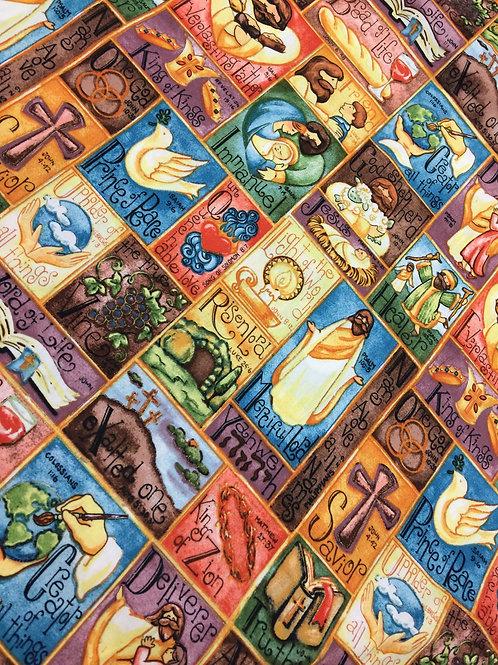Tecido Digitalizado de Tema Religioso