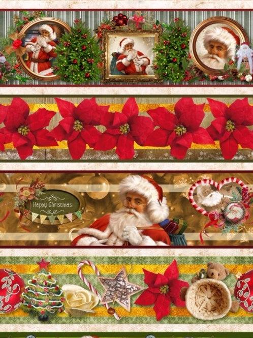 Barrado Digital Papai Noel/Flores