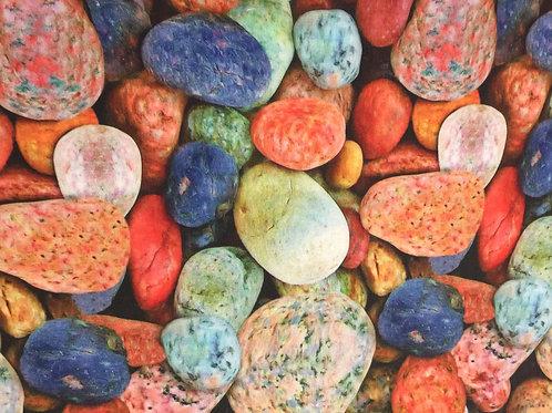 Tecido Digital Pedras