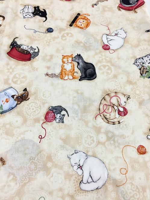 Tecido Importado Gatos
