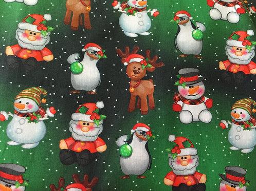 Tecido Digital Natal - Figurinhas Natalinas