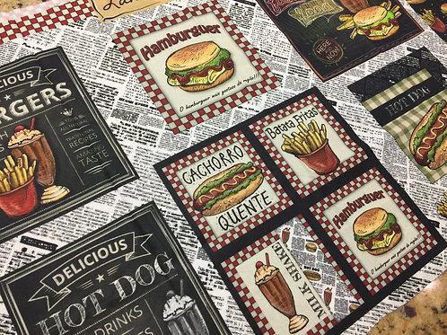 Tecido Digitalizado Hambúrguer