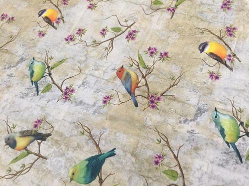 Tecido Digital Pássaros