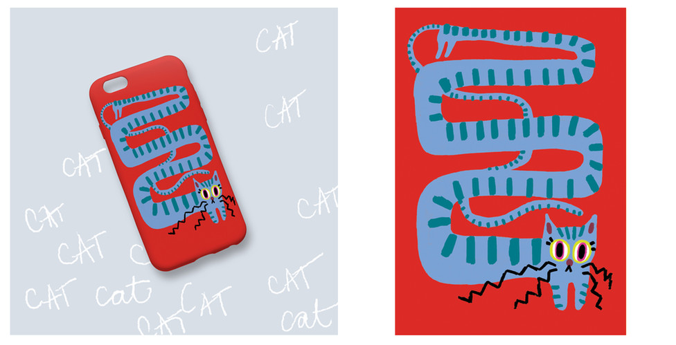 Phone case pattern design