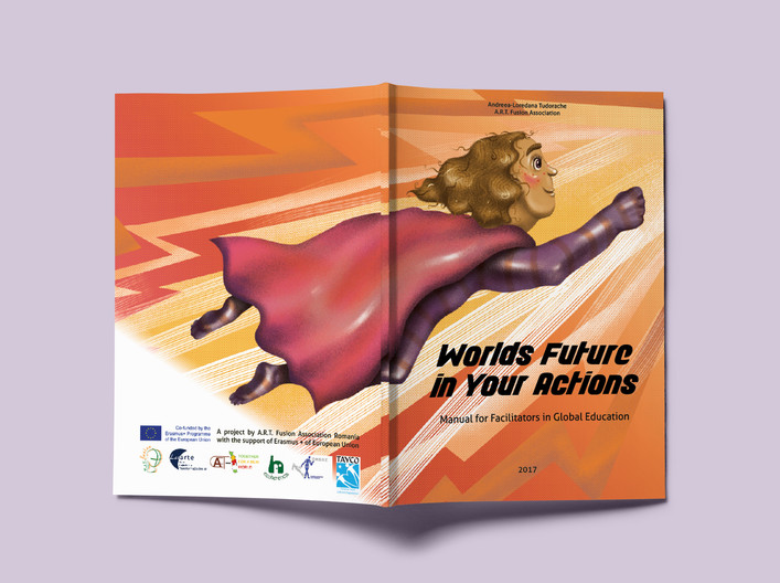 """""""World's future in your actions"""" cover design"""