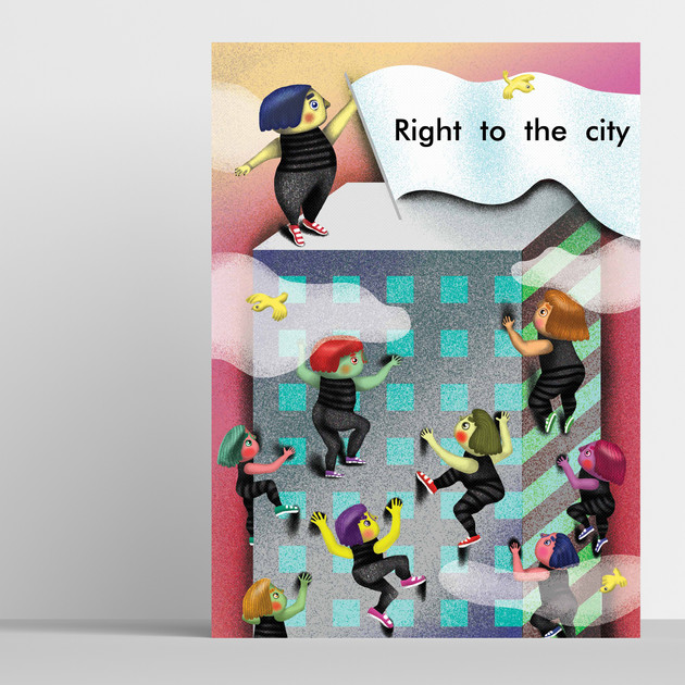 Right to the city editorial illustration