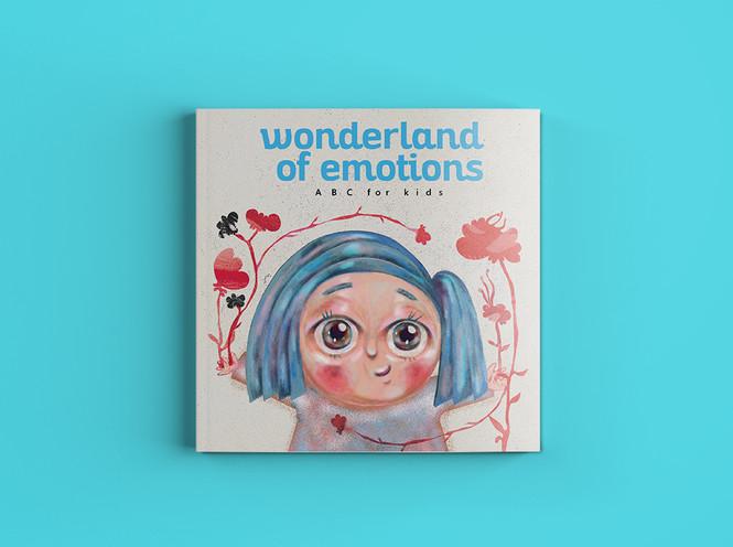 Wonderland of Emotions - ABC for kids cover design