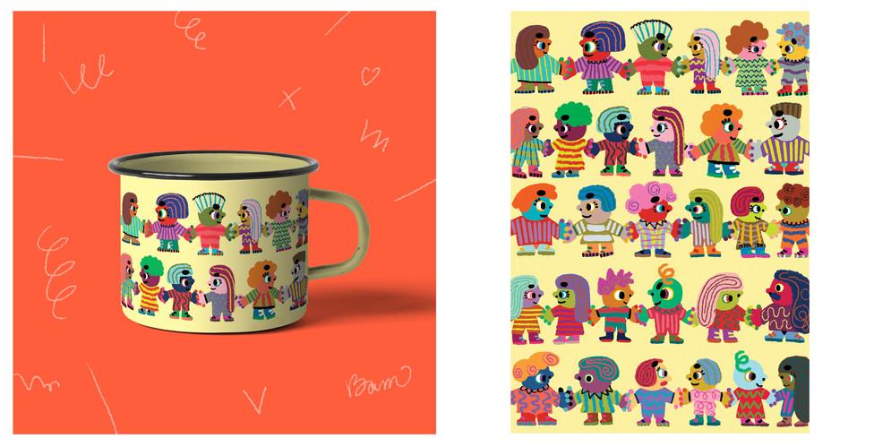 Mug pattern design