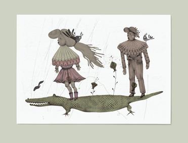 Love on a crocodile