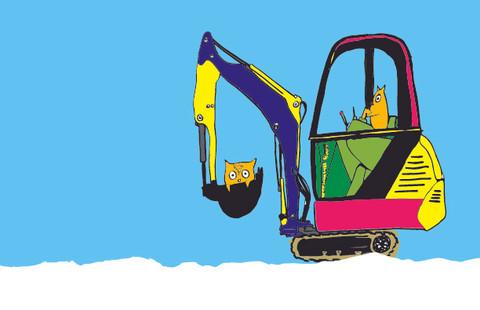 "Excavator from ""Trucks & Owls"""