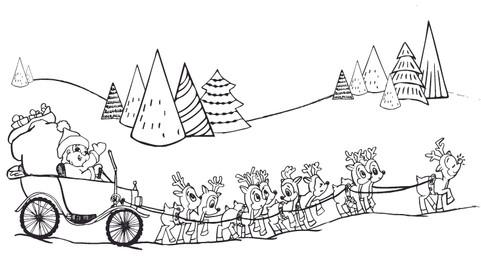 Santa drives a Model T