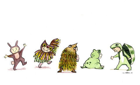 animals marching