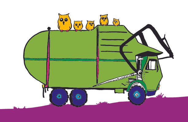 "Garbage truck from ""Trucks & Owls"