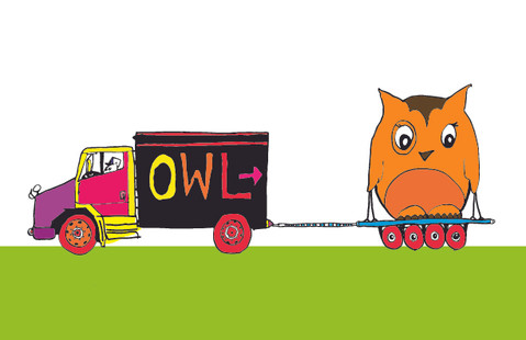 """Delivery Truck from """"Trucks & Owls"""""""