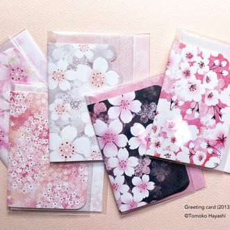 桜グリーティングカード