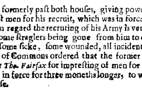 """""""A Tumultuous and Insolent Way"""" Western Campaign July 1645."""