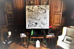 Clubmen1645 Map on display.
