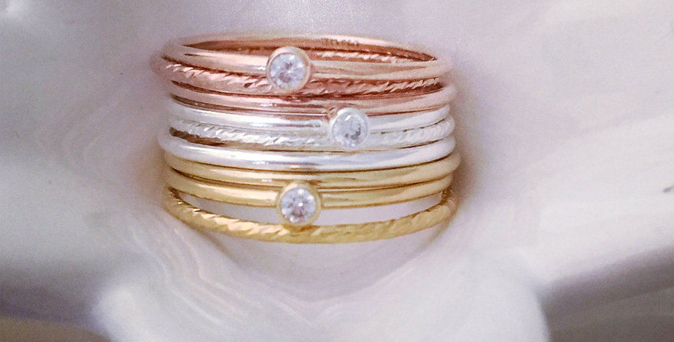 Stacking Rings - Sparkle