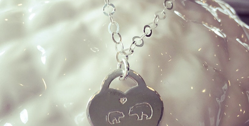 Mom and Baby Bear Necklace