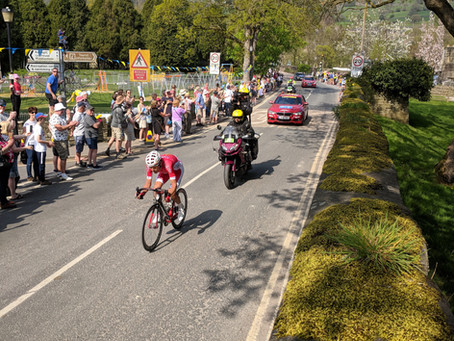 The Tour de Yorkshire wore sunshine in Pateley... and what a race!