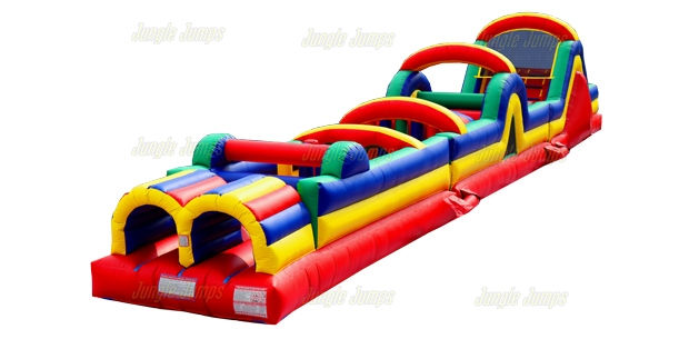 60' 8 Element Obstacle Course with Slide