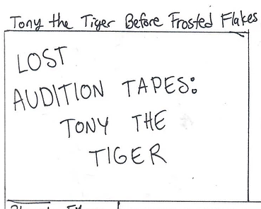 Tony the Tiger Before Frosted Flakes