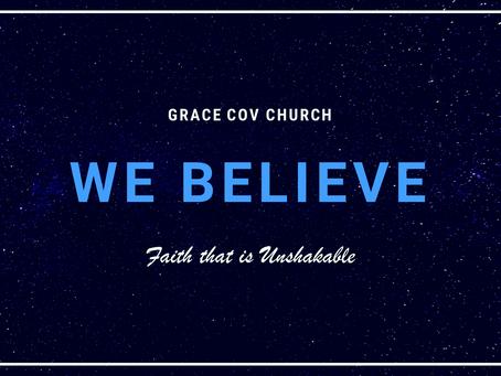 We believe - God's glory Alone    Craig Meyer