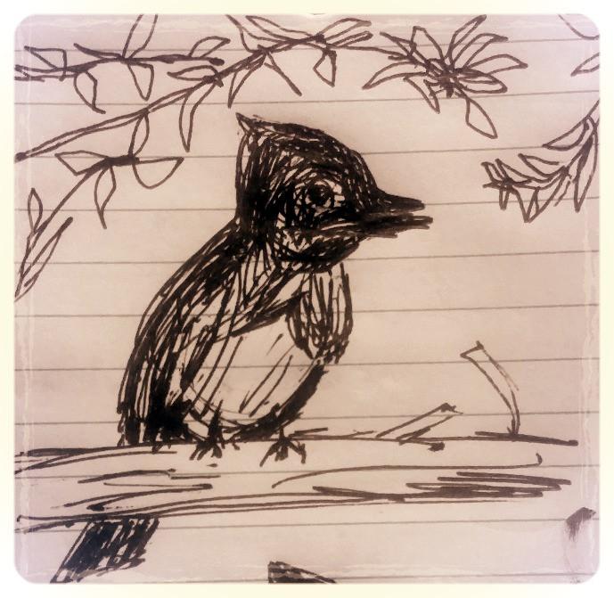 Sketch. Ink on notebook paper