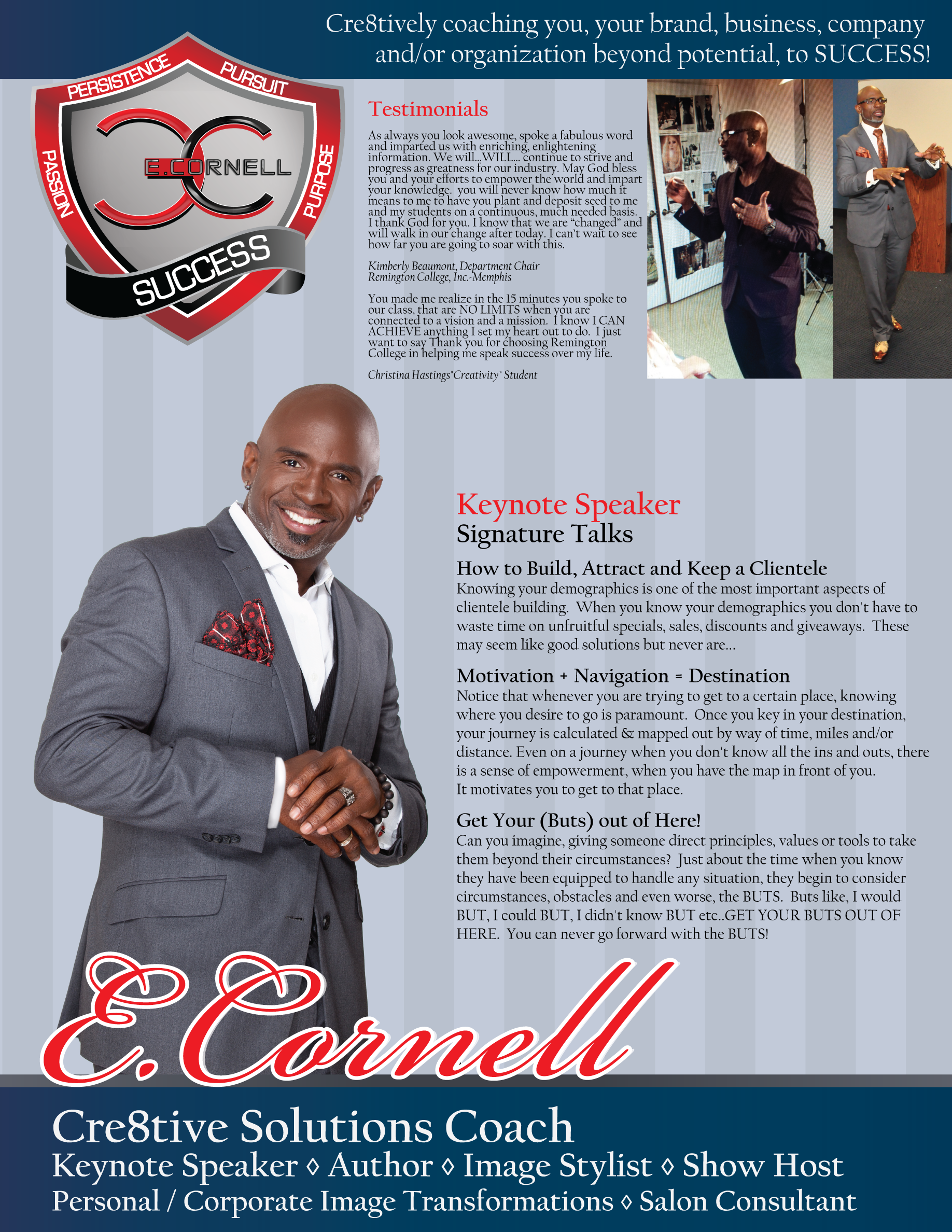 E. Cornell Media Kit/Speaker Sheets