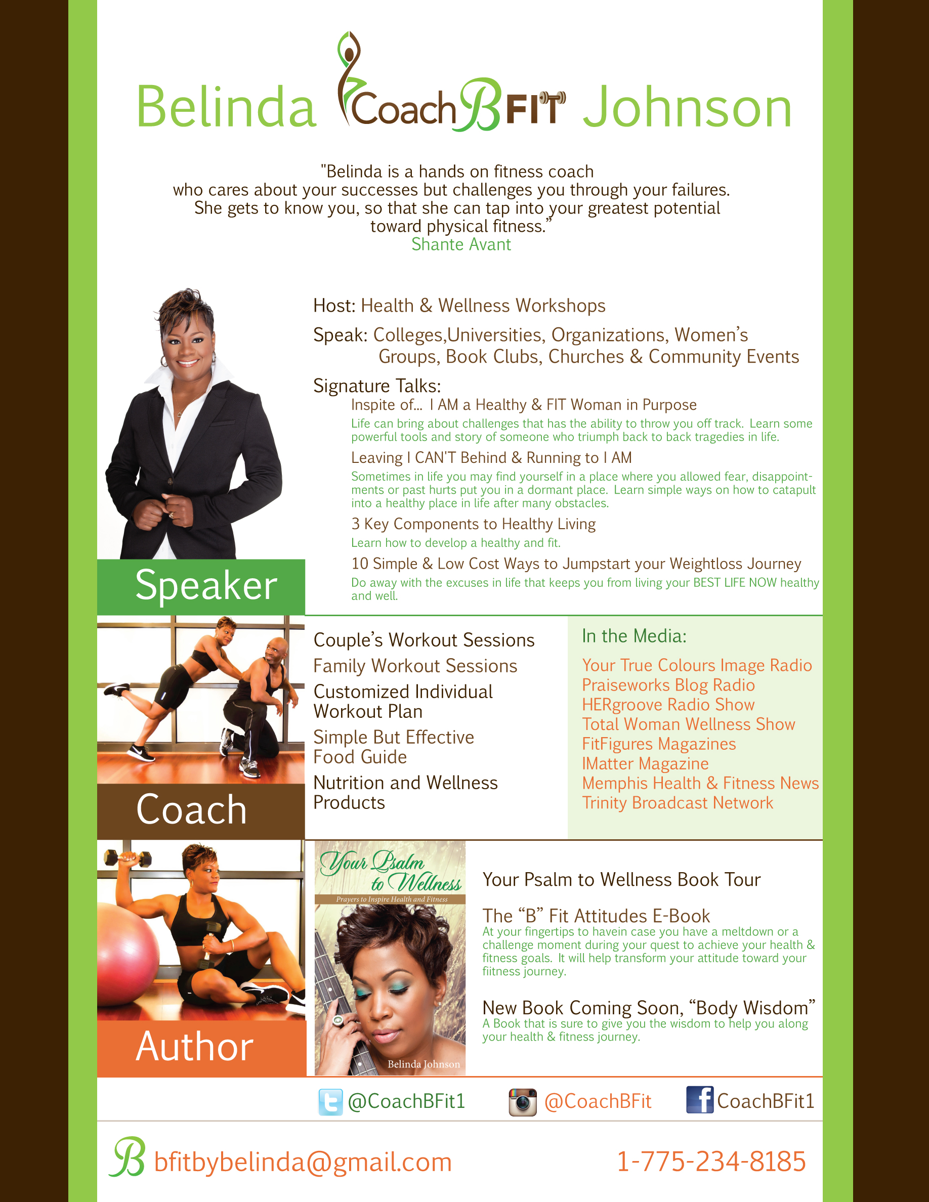 Belinda BFit Johnson Media Kit