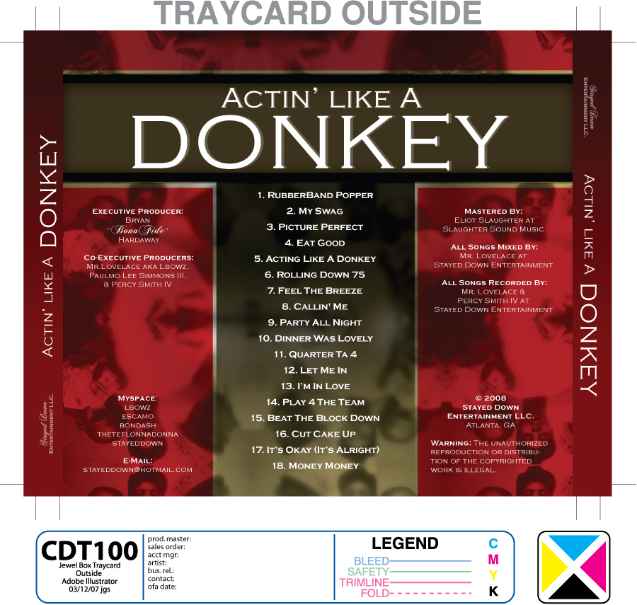 Actin' Like a Donkey CD