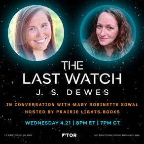 The Last Watch Launch Event: J.S. Dewes in conversation with Mary Robinette Kowal