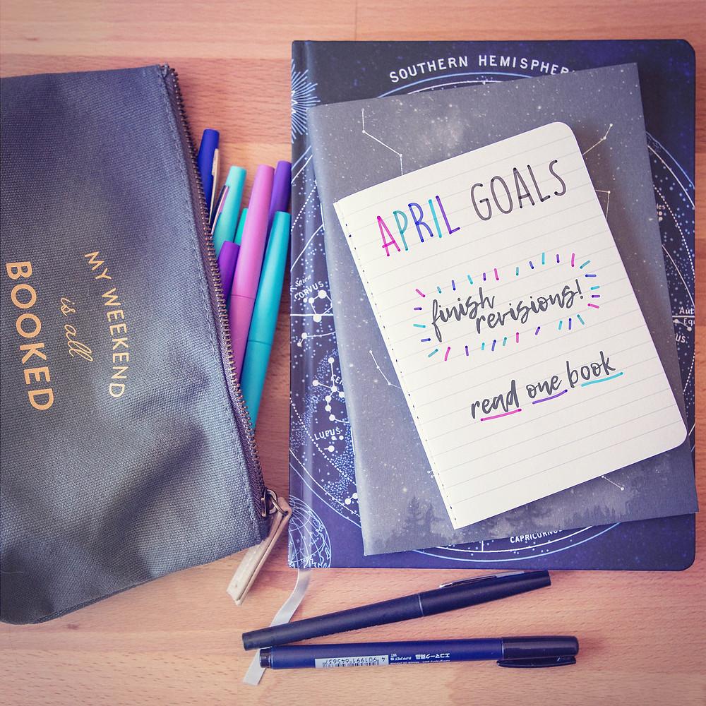 JS Dewes — Science Fiction Author — April Goals