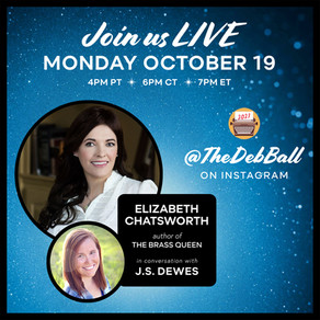 Events » October 19th — Instagram Live with Elizabeth Chatsworth, author of The Brass Queen
