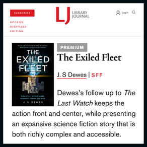 Publishing Quest » The Exiled Fleet Review in Library Journal